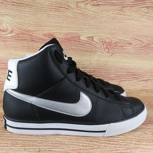 Nike Sweet Classic High Black Silver Sneaker 8.5